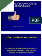 Diseñando la evaluación con ajustes.enero 3 2012 cinco y media