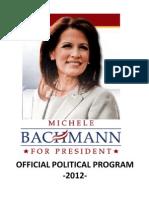 Michele Bachmann - Official political program 2012
