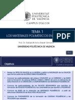 T1-Los materiales poliméricos en ingeniería