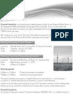 Prowind - South Branch Wind Farm Meeting Invitation - Jan 2012