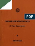 Swami Nirvedananda a True Sannyasin