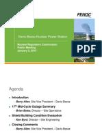 NRC Davis-Besse Nuclear Power Station Public Meeting 1-05-12 FENOC Slides