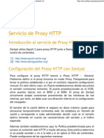 Servicio de Proxy HTTP — Documentación de Zentyal 2
