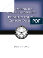 Defense Strategic Guidance