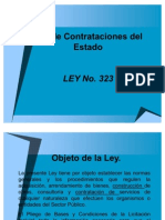 Presentacion de Ley de Contratacion Del Estado