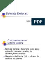 Sistemas Eleitorais - Jairo Nicolau