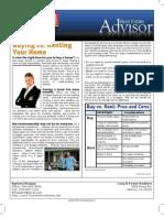 Real Estate Advisor-Buying vs. Renting