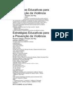 Estratégias Educativas para prevençao da violencia