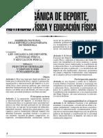 Ley Organica de Deporte, Actividad Fisica y Educacion Fiisica 2011