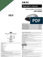 Arf360d Manual