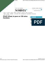 05-01-12 Crisis actual la peor en 120 años Carstens -El Economista