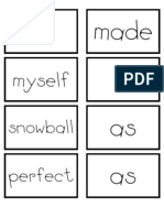 Snowball b&w Word Cards