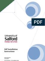 SAP Installation Instructions