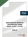 NTD-14 - Montagem de Redes de Distribuição Aéreas Rurais - 13,8kV e 34,5kV