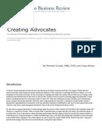 Creating Advocates