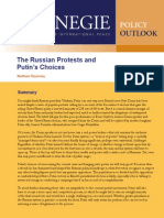 The Russian Protests and Putin's Choices