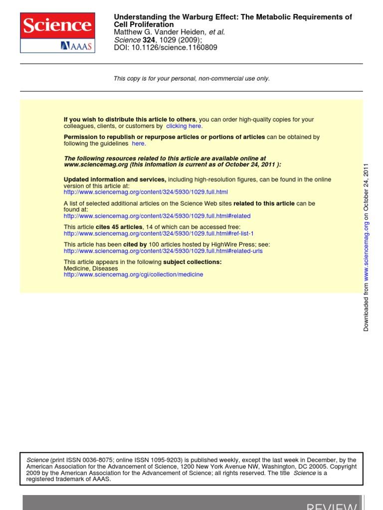 Vander Heiden Et Al_Warburg Effect   Glycolysis   Cellular ...