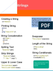 Python Strings Reference Card