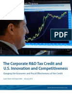 The Corporate R&D Tax Credit and U.S. Innovation and Competitiveness