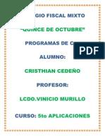 PROGRAMAS DE C++ CEDEÑO