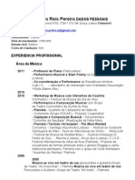 CV Pedro Pereira