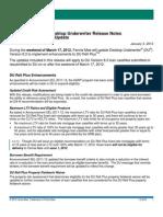 Fannie Mae Desktop Originator/Underwriter Release Notes Update