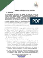 TDR PARA AUDITORÍA convenio FOS