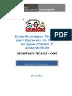 Manual Especificaciones Tecnicas Para Ejecucion Obras Agua Alcantarillado
