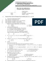 Test Matematika Mid Semester 2 Class 7 2011