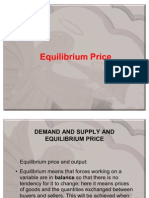 Demand & Supply Equilibrium.finaL 2011