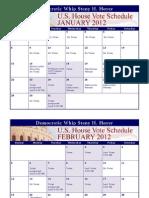 2012 U.S. House Calendar