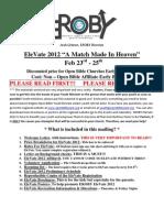 EleVate 2012 Mailing
