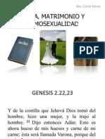 BIBLIA MATRIMONIO HOMOSEXUALIDAD