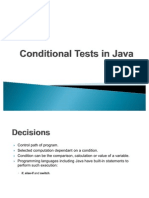Conditional Tests in Java