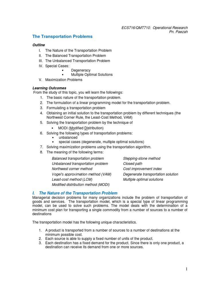 10 Transportation | Mathematical Optimization (65 views)