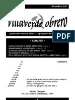 Villaverde Obrero - Número 6 - Diciembre 2o11