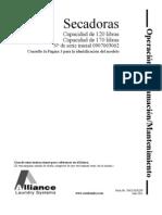Manual Operacion Programacion Mantenimiento Secadora Cissell 70421101sp