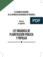 Ley Organica de Planificacion Publica y Popular