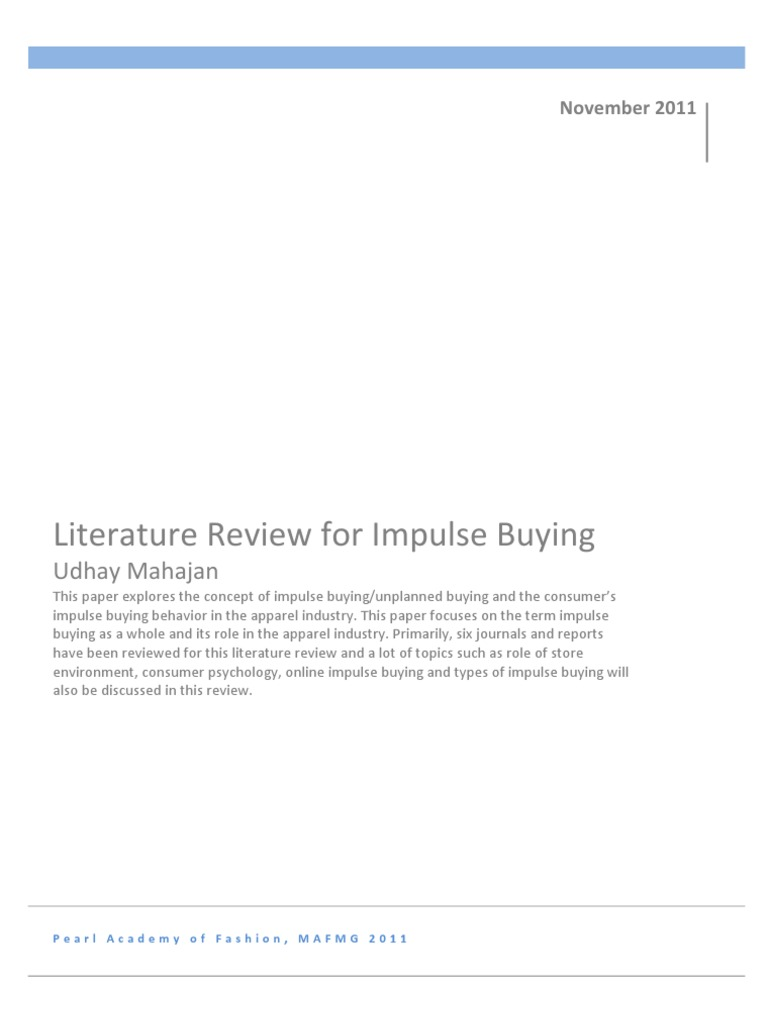 Impulse buying research paper