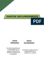 Diseño inv. Exploratoria, Datos secundarios 4