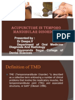 Acupunture in Treating Tmd