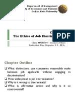 7. the Ethics of Job Discrimination