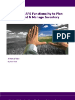 POV - Aligning APS Functionality to Plan Demand and Manage Inventory