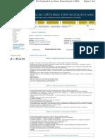 Organização Curricular do curso de Direito Imobiliário da Cogeae PUCSP