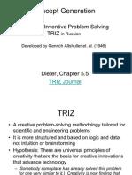 Concept Generation - TRIZ