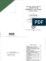 Friedrich Hoffmann, Mäßigkeit und Fasten