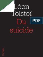 Du Suicide, Léon Tolstoï