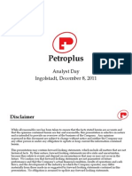 PETROPLUS Ingolstadt Analyst Day Presentation Final