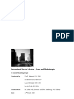 International Market Selection - Issues and Methodologies
