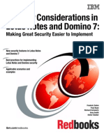 Security Consideration in Lotus Notes and Domino 7